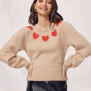 NWOT Wilfred Poesy sweater with 💓 knit